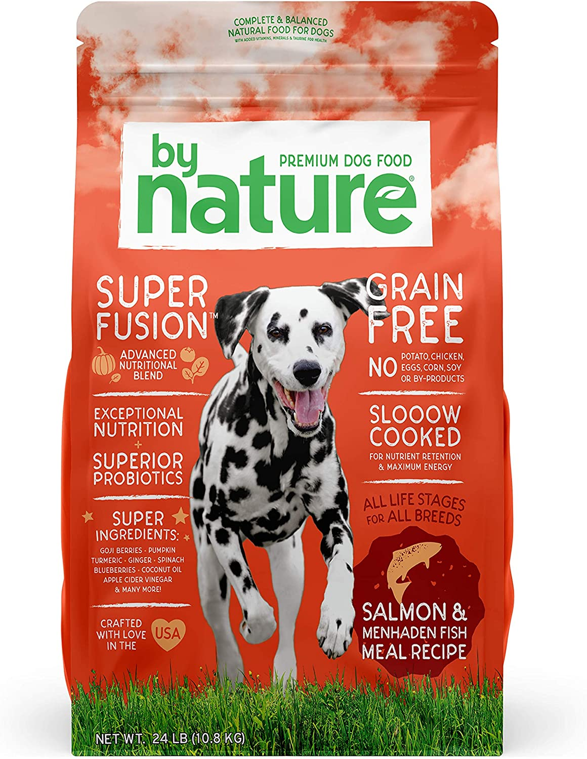 By Nature Pet Foods Grain Free Dog Food Made in USA Grain Free Dry Dog Food with Superfood Ingredients for Food Sensitivities and Immune Health