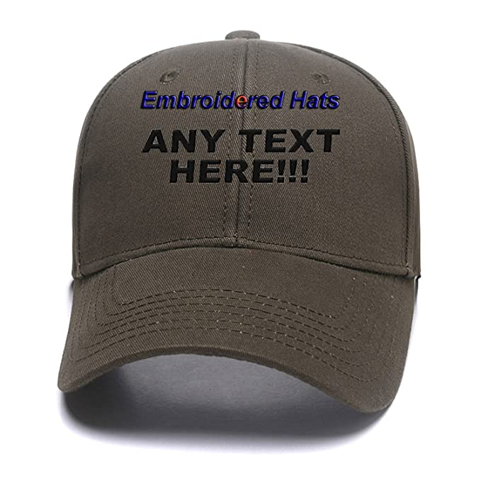 fe351823564d4 Custom Embroidered Hats Your Own Text Curved Bill Hip Hop Snapback Baseball  Hats Army Green