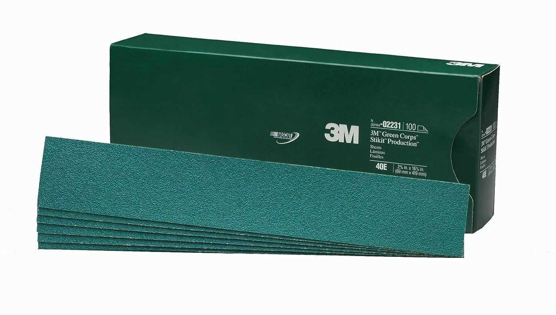 3M 02231 Green Corps Stikit 2-3/4' x 16-1/2' 40E Grit Production Sheet
