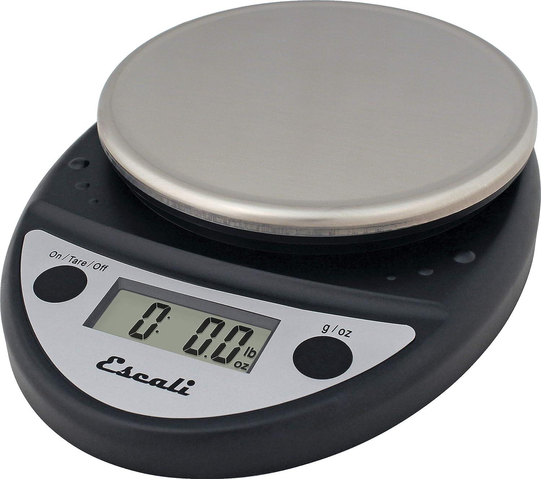 San Jamar SCDGP11BK Professional Round Digital Food/Kitchen Scale, 11 lb Capacity, Black
