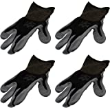 4 Pack Showa Atlas 370BBK Atlas Nitrile Tough Gloves   Large