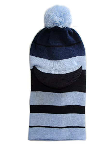 Amazon.com  Frost Hats Winter Boy s BLUE Hat Balaclava Striped Ski ... 6f06e9624ef