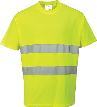 Portwest S172 - Comfort algodón de la camiseta, color Amarillo, talla 3 XL: Amazon.es: Industria, empresas y ciencia