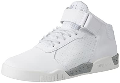 Supra Men's Ellington Strap High Top Sneakers White Size: 10.5
