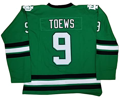 newest collection 47888 fd4c3 Kooy Jonathan Toews #9 North Dakota Sioux Green Hockey Jersey Men