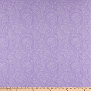 Benartex Classic Scrolls And Blenders Meadow Scroll Light Purple Quilt Fabric By The Yard