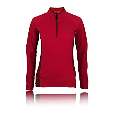 5141fa2e Asics Fujitrail Half Zip Women's Running Top - X Large Pink: Amazon ...