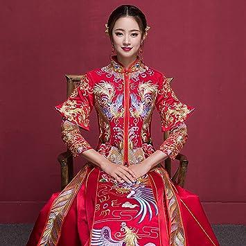 Vestiti Da Sposa Cinesi.Yunding Abito Da Sposa Cinese Vestito Rosso Di Lusso Cheongsam