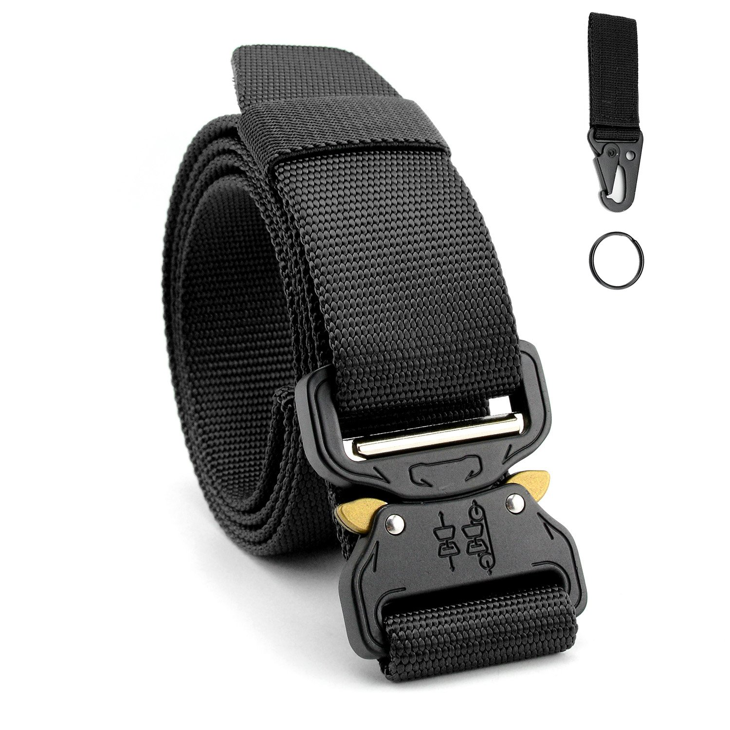 Neady Mens Tactical Belt Riggers Belt with Molle Key Ring