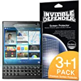 Blackberry Passport Screen Protector - Invisible Defender [3+1 Free/MAX HD CLARITY] Lifetime Warranty Perfect Touch Precision High Definition (HD) Clarity Film (4-Pack) for Blackberry Passport