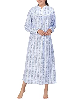 667e9c396d Lanz Of Salzburg Women s Collar Neck Flannel Long Nightgown