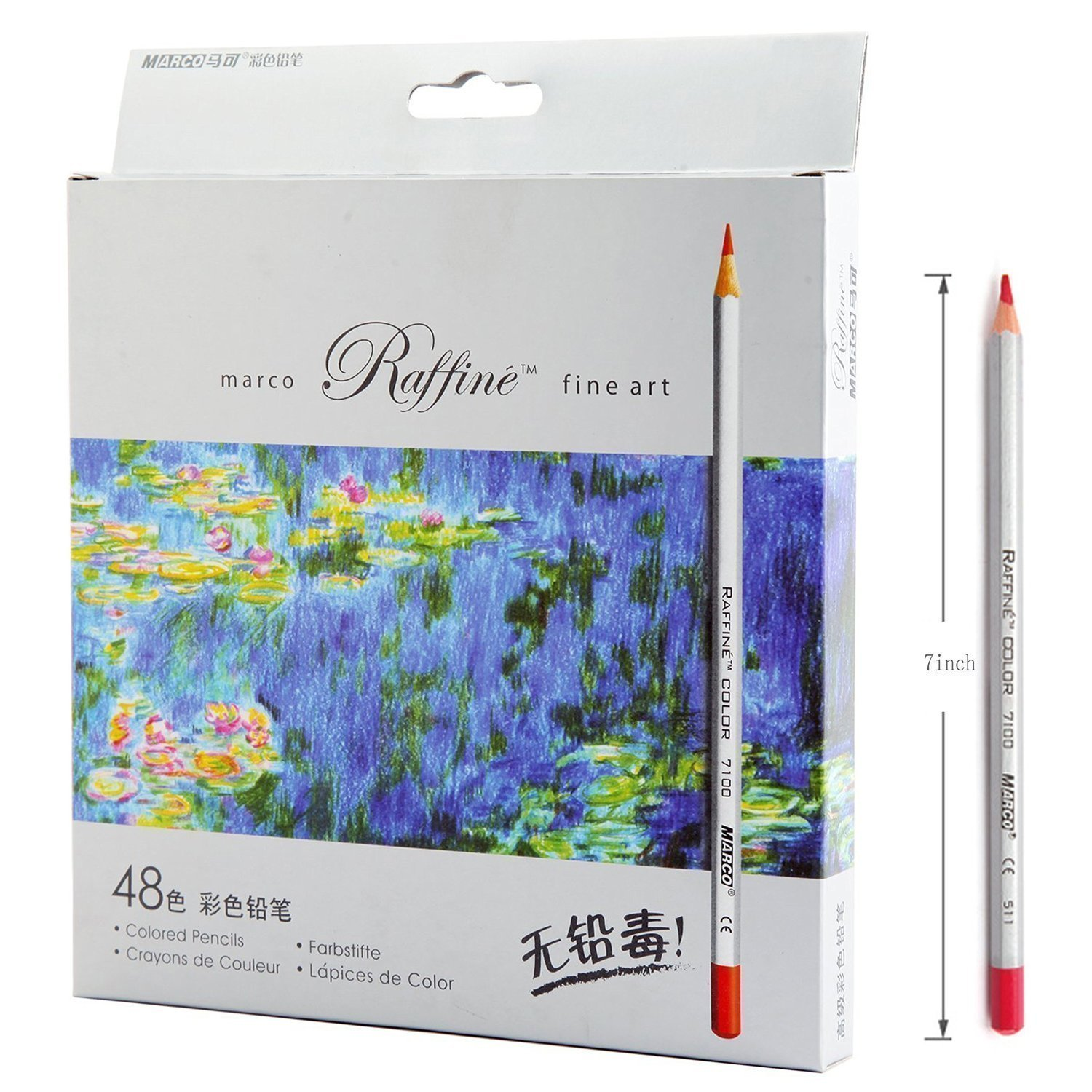 Amazon Lanxivi 48 Marco Colored Pencils With Pen Pouch Set Color Professional Art Drawing For Artist Sketch Oil Base Office