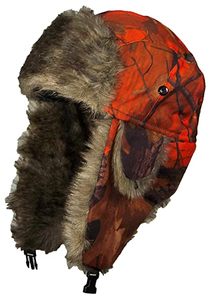 Best Winter Hats Orange Real Tree Camouflage Hunter Trapper(One Size ... 2bb1d819cff