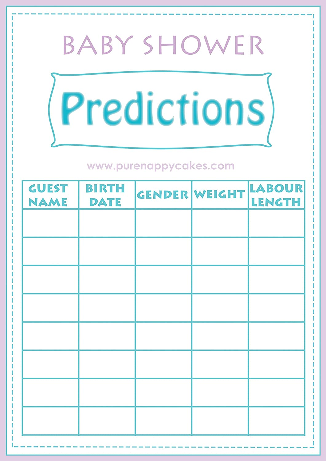 Wonderful Baby Shower Multiple Games Pack Including BINGO, Ice Breakers   Baby  Predictions U0026 Who Knows Mummy Best Game   Unisex   FREE DELIVERY:  Amazon.co.uk: Toys U0026 ...