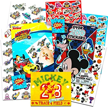 Mickey Mouse Stickers & Tattoos Party Favor Pack (200 Stickers ...