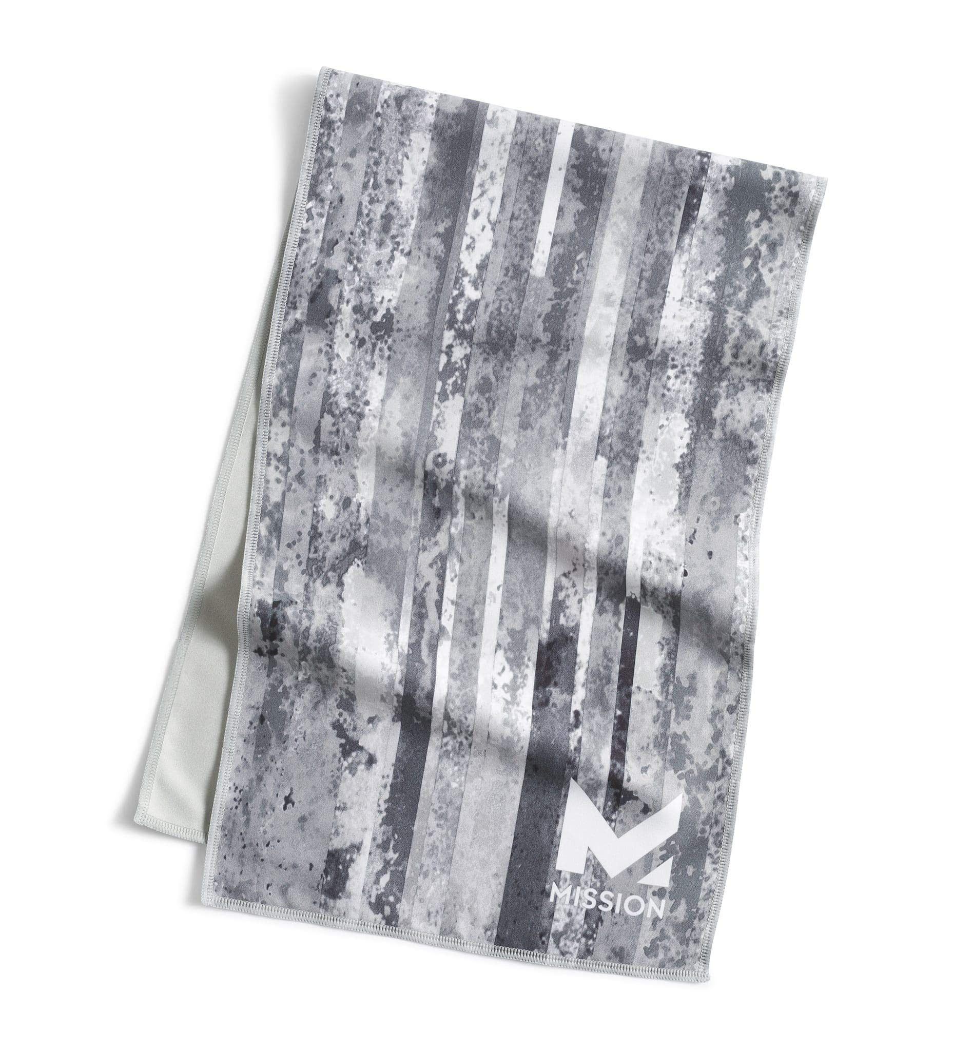 Mission Original Cooling Towel, Grunge Stripe Silver, One Size by Mission