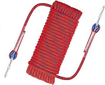 Awroutdoor Cuerda de Seguridad Cuerda de Escalada Profesional de Alta Resistencia para Escalar al Aire Libre y en Interiore Perfessional Rappelling ...