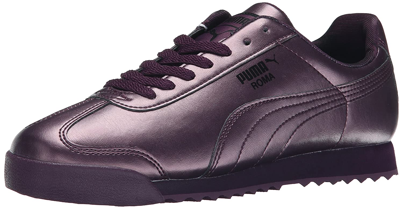 PUMA Women's Roma Metallic Sneaker B00VR1A9N4 7.5 M US|Plum/Italian Plum