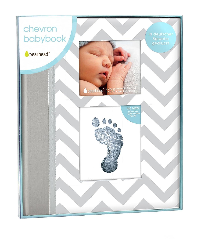 Pearhead p62205zigzag Baby–De de libros de recuerdos con un aubdruck Volumen de limpio, para obtener mano o Impresión fussab del bebé, color rosa Inc.