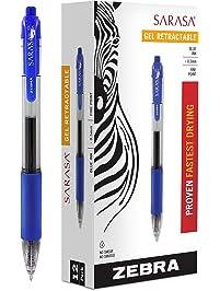 Zebra Sarasa Retractable Gel Ink Pens ...