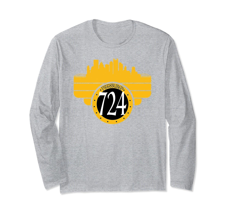 724 Pittsburgh PA Area Code Long Sleeve Pittsburgh Pride-ah my shirt one gift