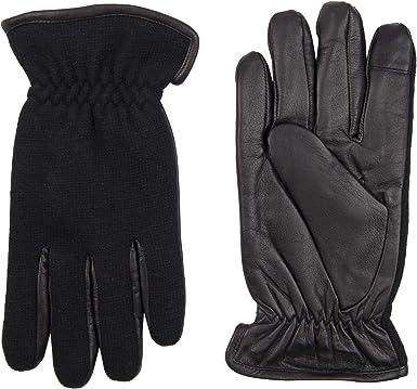 Dockers - Guantes de piel para hombre con pantalla táctil capacitiva para smartphone - Negro - X-Large: Amazon.es: Ropa y accesorios