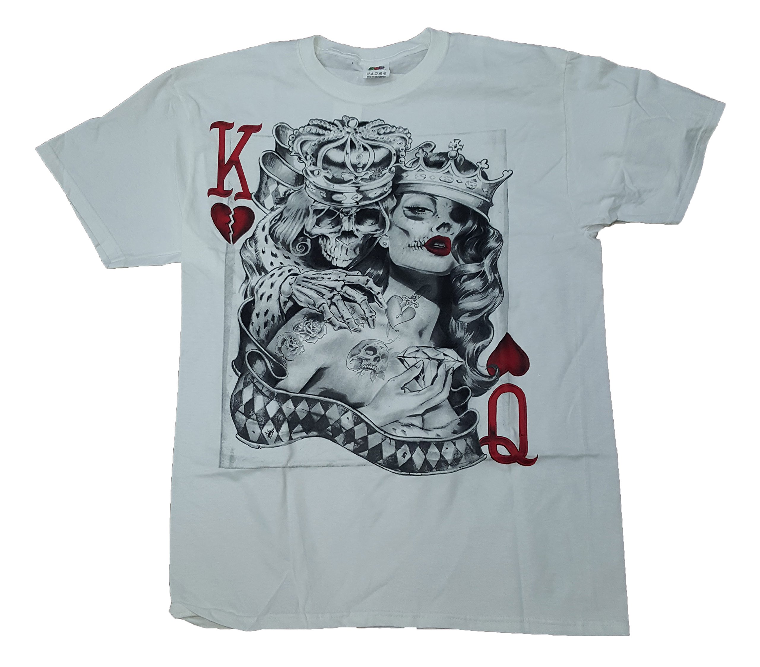 Skeleton King & Queen Of Hearts Graphic T-Shirt