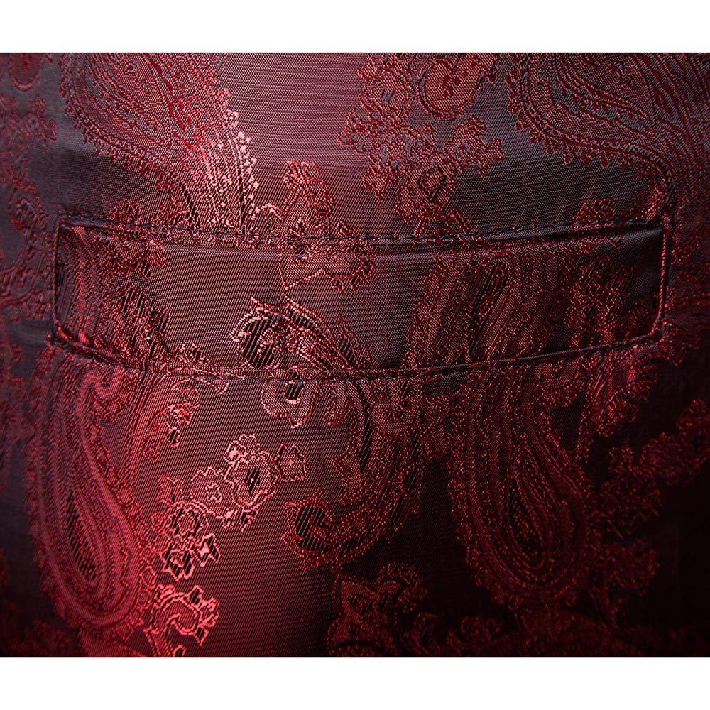HHei/_K Mens Suit Slim 2-Pieces Suit Blazer Lapel Hot Stamping Floral Print Business Wedding Prom Party Jacket /& Pants