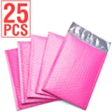 Fu Global #0 6x10 Poly Bubble Mailer Self Seal Padded Envelopes Pack of 25 (Pink)