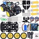 Kuman Professional WIFI Smart Robot Modèle Voiture Kit Caméra Vidéo pour Raspberry Pi 3 RC Télécommande Robotique Jeu de Jouets électroniques Contrôlée par PC Application ISO Android avec Carte SD 8Go