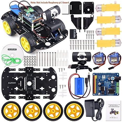 Kuman Action Cam Fr Diy Robot Car Kit