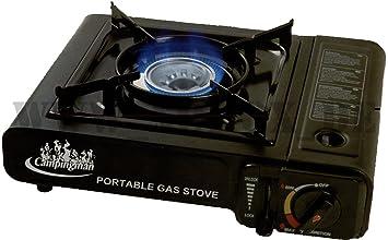 Campi ngman Hornillo de gas butano portátil eléctrica color negro