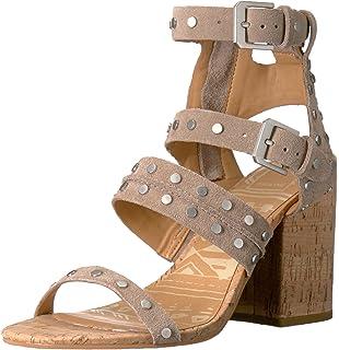 Womens Luci Heeled Sandal, Saddle Nubuck, 9 M US Dolce Vita