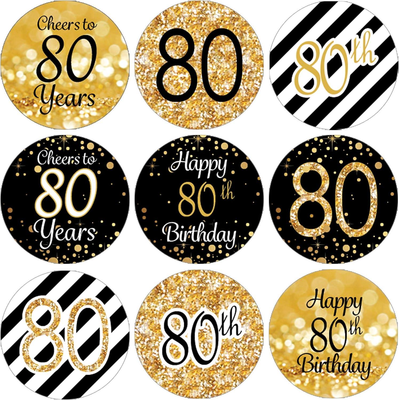 Amazon.com: Etiquetas de regalo para fiesta de 80 cumpleaños ...