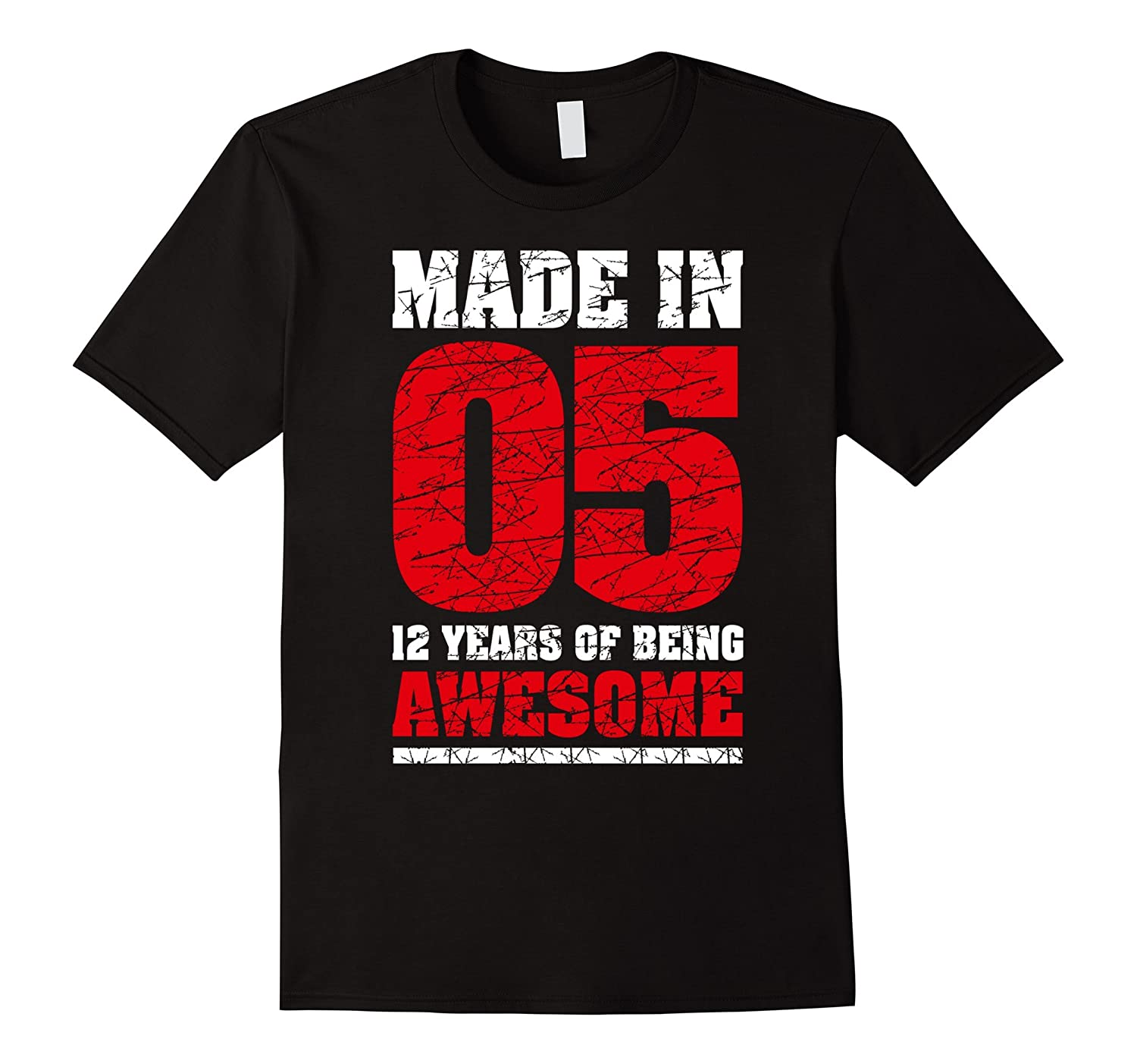 12th Birthday Gift T-Shirt Made In 05 cute 12 yrs old gift-FL
