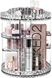 Sorbus Rotating Makeup Organizer, 360° Rotating Adjustable Carousel Storage for Cosmetics, Toiletries, and More - Great for Vanity, Bathroom, Bedroom, Closet, Kitchen (Clear)