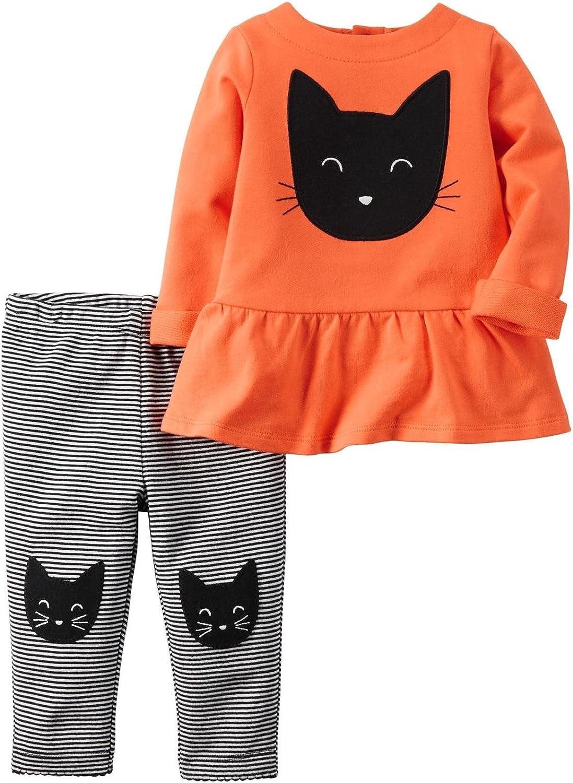 Carters bebé niñas 2 piezas Halloween felpa gato Túnica y Leggings Set: Amazon.es: Ropa y accesorios