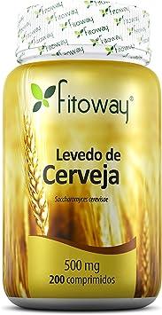 Levedo de Cerveja 500 mg, Fitoway, 200 Cápsulas