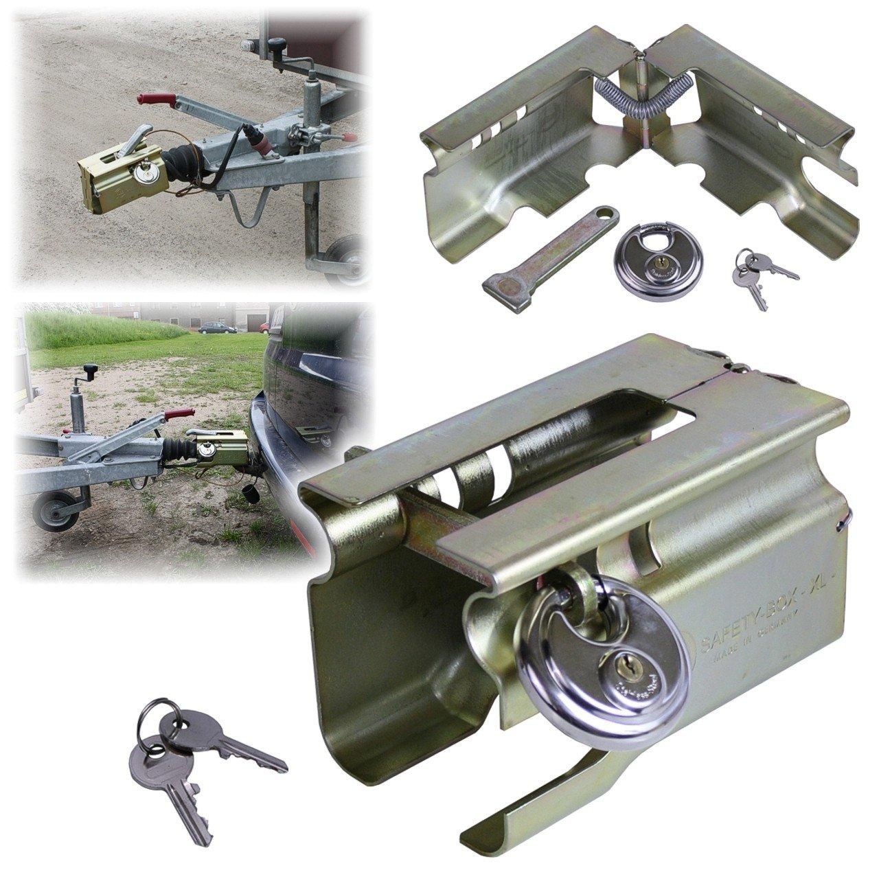 Caja de seguridad Albe Berndes XL + Candado antirrobo para remolque de automó viles