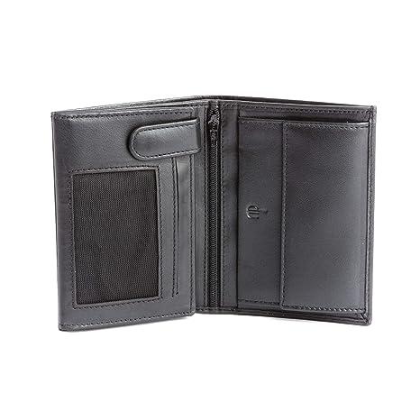 20dbd18f92 Portafoglio uomo pelle Nappa vera formato verticale con zip e portamonete  DV Nero
