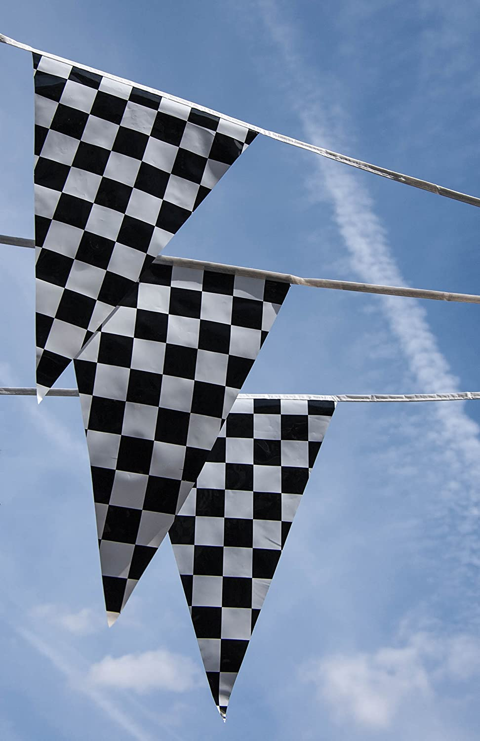 Amazon.com: Black and White Checkered Race Flags Banner by Gabby Fun ...