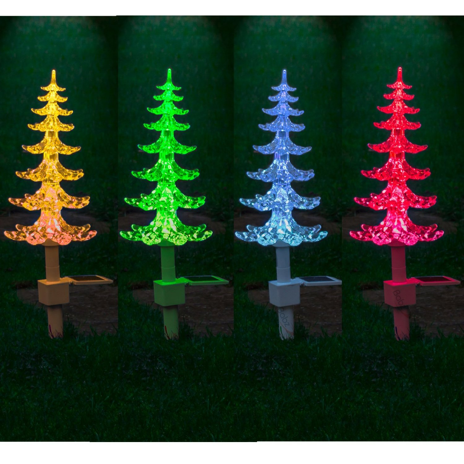 Garden mile® Large Solar powered Colour Changing LED Garden ...