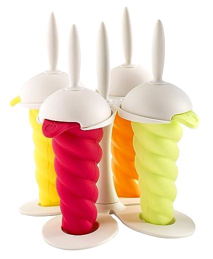Orka F47221 - Moldes para helados y sorbetes, diversos colores