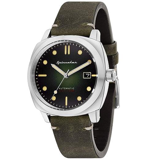 Reloj Hombre - Spinnaker - Gama Vintage - Hull - automático - 42 mm - 10 ATM - Pulsera Piel Marrón - sp-5059 - 03: Amazon.es: Relojes