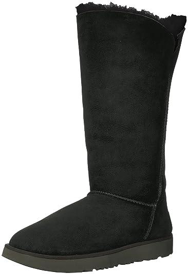 2e09bf26242 Amazon.com | UGG Women's Classic Cuff Tall Winter Boot, Black, 5 M ...