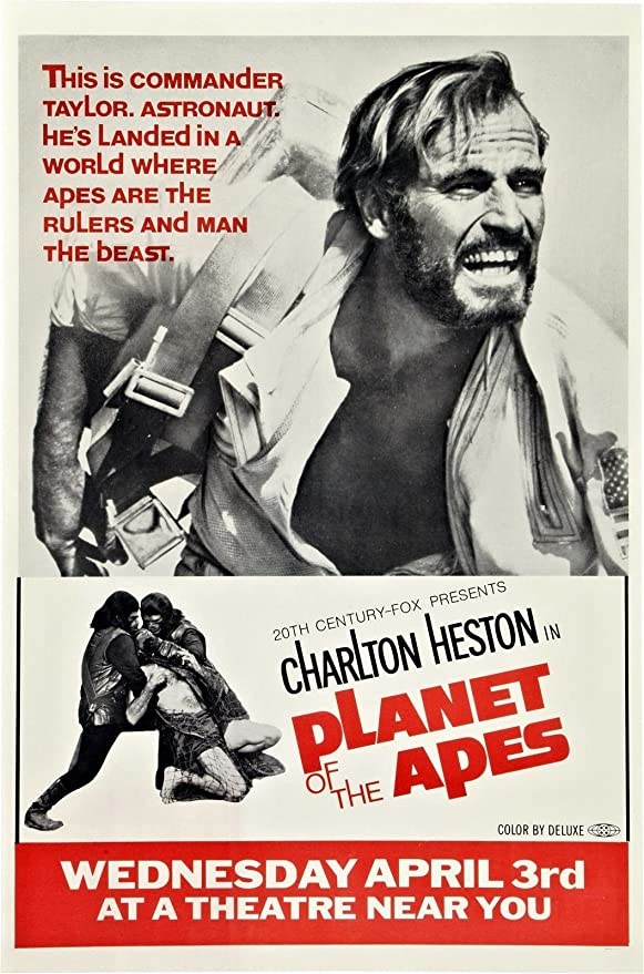 Amazon.com: Planet of The Apes (1968) Movie Poster Heston 24x36 ...