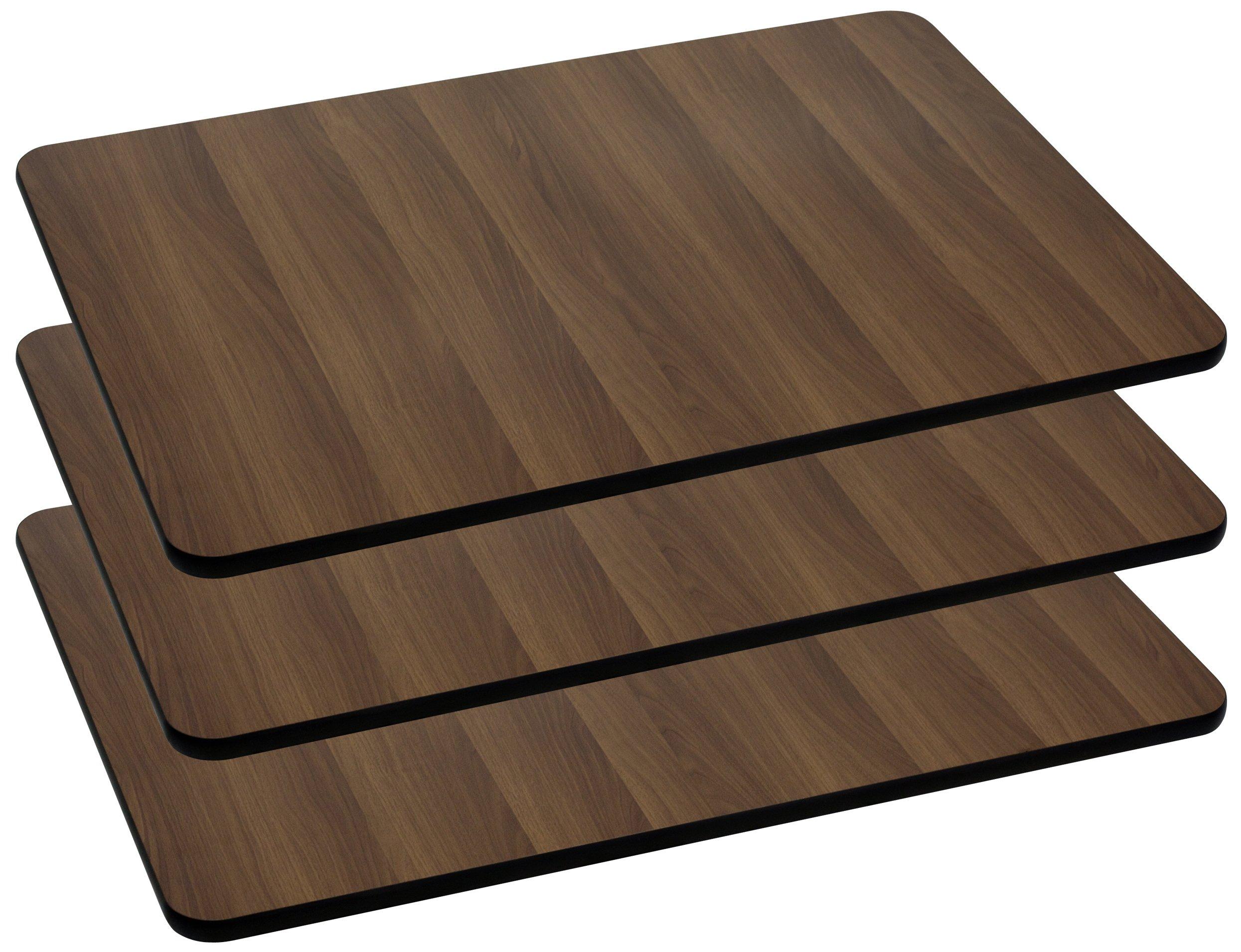 Flash Furniture 3 Pk. 24'' x 30'' Rectangular Walnut Laminate Table Top
