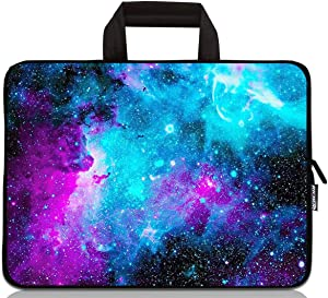 12 inch Neoprene Laptop Carrying Bag Chromebook Case Tablet Travel Cover with Handle Zipper Carrying Sleeve Case Bag Fits 11 11.6 12 12.1 12.5 inch Netbook/Laptop (11-12.5 inch, Galaxy)