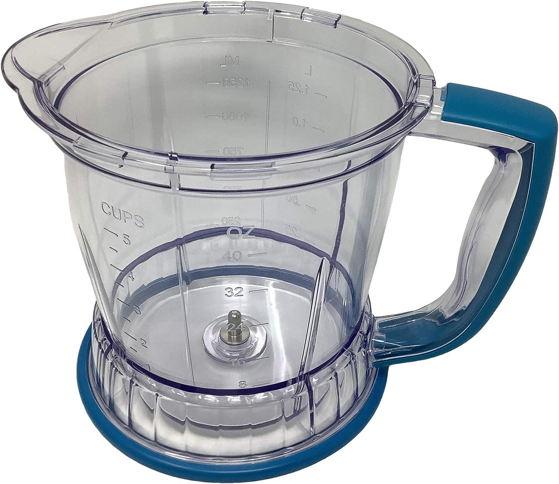 Genuine Ninja 40oz Bowl for Master Prep Food Processor QB700 QB750 QB900B QB1000 QB1003 QB1004 QB1005, Teal