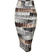 Made By Johnny Women's Elastic Waist Stretch Bodycon Midi Knee Length Pencil Skirt for Office- Made in USA
